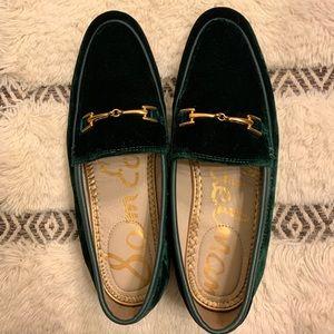 Sam Edelman Green Velvet Loafer size 7
